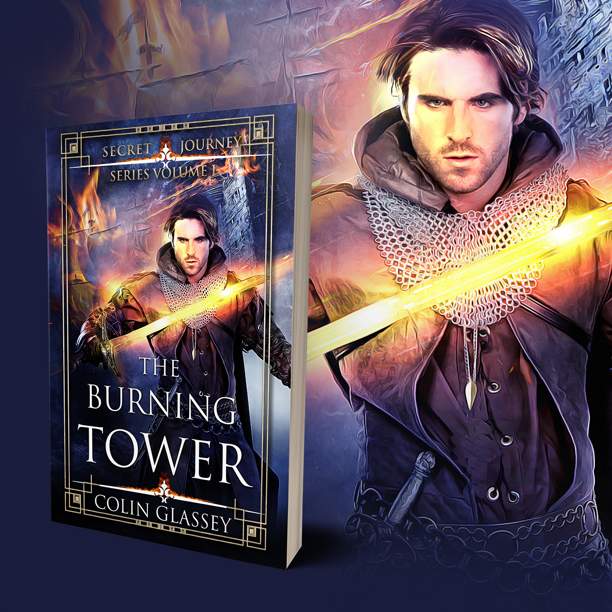 "Cover image ""The Burning Tower"""