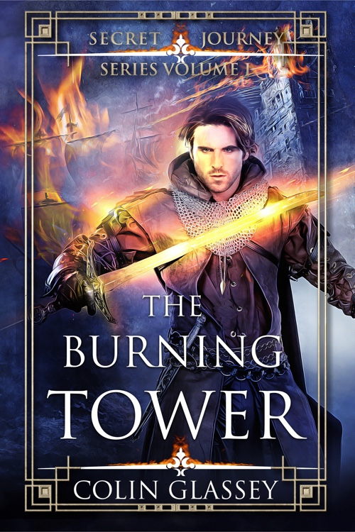 Cover illustration for The Burning Tower