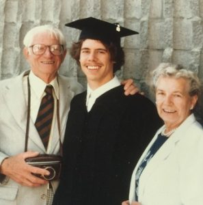 The author's college graduation, with his grandparents