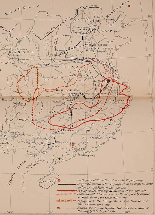 Map of the Taiping Rebellion